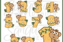 Numbers & Lettering Clipart / number, alphabet, word art, lettering clipart graphics