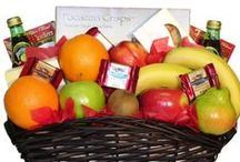 Premium Nuts and Fruits! / A delicious assortment of healthy fruit baskets with fresh fruit and premium snacks.