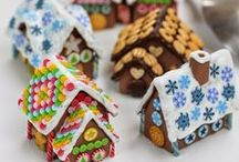 tutorials: Christmas (gingerbread houses) / Tutorials and mini printables for Christmas gingerbread houses