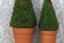 tutorials: Christmas (trees) / Tutorials for dollhouse Christmas trees and tree skirts