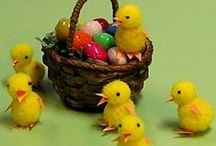 tutorials: Easter / Tutorials for miniature Easter and Spring projects, and some needlework charts