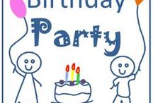 Birthday party / Make your child's' birthday party one to remember. Have lots of laughter, fun, balloons, snacks, gifts, activities and more. Party. Celebrate. Cake. Card. Ideas. Birthday. Party fun. Happy moments. Game fun.