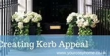 Creating Gorgeous Kerb Appeal / Kerb Appeal is a term used a lot around the property market, its used to describe the attractiveness of a property and its surroundings when viewed from the street. But even if your not selling your house how it's viewed by others passing by or visiting is also important,  because first impressions definitely count. There are lots of ways to create a stunning front to your home but the most important thing is to put your stamp on it.