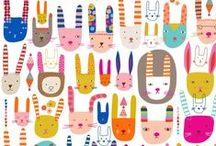 Bunnies / Art, illustration and craft featuring bunnies - all kinds of rabbits. / by Shiny Happy World