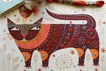 Cats / Art, illustration and craft featuring cats. Big cats and itty bitty kitty cats. / by Shiny Happy World