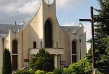 Parafia Szczypiorno / Tablica poświęcona parafii w Szczypiornie i kaplicy Barbary w pobliżu