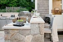 Outdoor kitchens/ Fireplaces / by Jessica Clock