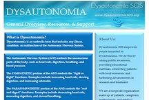 Awareness, Education, Outreach (Dysautonomia SOS) / Pictures and links related to dysautonomia awareness, outreach programs, & education.