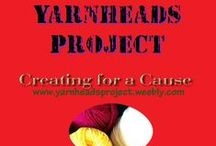 The YarnHeads Project: Crochet & Knit for Homeless / Create for a cause! Websites, Organizations, and Blogs with tutorials, free patterns, and info about crochet and knitting. Info about us. Check out the Yarnheads Project at www.yarnheadsproject.weebly.com!