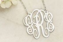 My Monogram Jewelry / Follow our board to see the most wanted Monogram Jewelry. All the most beautiful necklaces, bracelets, earrings and rings that make the perfect Monogram Gifts for yourself or your loved ones