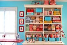 Crafting Spaces and Ideas / Awesome and fun ideas for an ultimate organized crafting space!