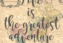 Wedding Theme: Adventure Awaits / Travel theme wedding for the couple who loves to go on adventures together across the globe.