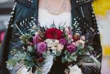Wedding Theme: Goth Glamour / Welcome to the dark side with a rockstar flair.