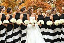 Wedding Theme: Black & White / Kate Spade inspired formal affair with black and white stripes.
