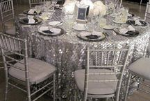 Wedding Theme: Silver Sparkle / For a silver themed affair, check out these sparkly ideas for your wedding day.