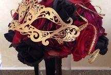 Wedding Theme: Masquerade Ball / Dark, mysterious and sexy wedding theme.