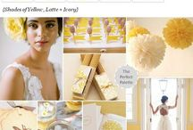 Wedding Theme: Honey Bee / A truly unique wedding idea utilizing the color and shapes from honey bees. A sweet nature-focused wedding that will make your guests smile.