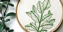 embroidery - pokojovky / inspirace pro výšivky Pokojovek, návody na vyšívání