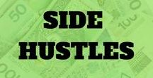Side Hustle Ideas / Every day people make tons of money doing a side hustle. Here are the best side hustle ideas you can use right now! Also see pins on side hustle ideas at home.