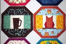 Quilts - Mug Rugs, Table Runners & all things kitchen / A collection of all things related to Mug rugs, Table runners & anything else I can do with fabrics for the kitchen / by Paula Laird