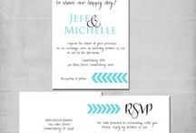 Wedding Invitations - Michelle James Designs / DIY wedding invitation ideas and announcements.  Michelle James Designs wedding invitations can be customized to the couples perfect design.