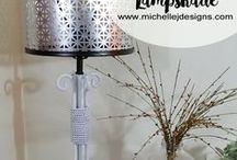 Lighting Ideas / DIY or purchased lamps, pendants and more.  Anything lighting related!