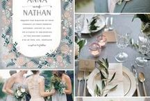 Colors / Color Pallets for weddings & events. Inspiration to create beautiful events.