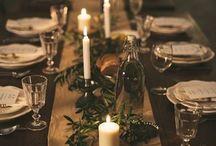 Tischdekorationen Winter