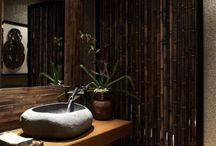 Zen Garden Room / (L)Nourish wood and water (R) fire and wood / by Jasmine