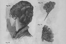 Coiffure through time / Pictures, Paintings, Instructions from hairstyles and coiffures until the early 20th Century