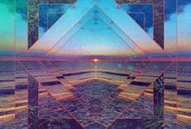 """Sacred Geometry / """"Art is science made clear. """" - Wilson Mizner  / by : barbarella :"""