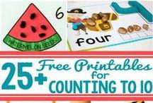 Preschool Math Ideas / Math foundation ideas for preschoolers and Kindergarten.