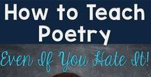 Teaching Poetry to Kids / Great poetry resources for the classroom