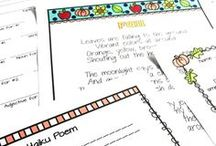 October Teaching / Lessons and ideas for teaching in October.  Great crafts, writing lessons, and red ribbon week lessons.  Get into fall with these fun ideas.  From football to Halloween!