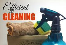 CLEANING / There's nothing better than a clean and organized home. Here's some cleaning tips to make that cleaning and home organization more manageable.