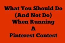 Pinterest Contests / Examples of Pinterest Contests - shows you how to run an effective pinterest contest / by Lorna Sixsmith