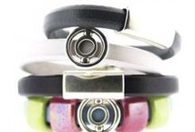 Square Leather Trend Bracelets / Square or Oval leather Trend Bracelets from Bijoux Beads