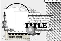 Scrapbook - Challenges To Do / Scrapbooking sketch challenges due this month - updated monthly with the newest challenges