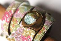 Liberty Bracelets / Liberty Fabric Bracelets created by Dawn Small