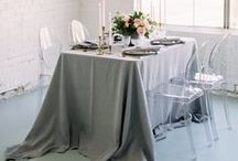 Wedding tables and centerpieces / wedding tablescape ideas. Rental and linens for wedding. floral centerpieces and silverware ideas for your wedding.