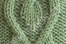 Pontos tricô e crochê