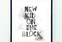 New Kid on the Block / 2016 wawomb's monochromatic debut collection for genderneutral nurseries