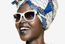 Hair Wraps - Head Scarf styles / Hair wraps - Head scarves styles on natural afro textured hair.