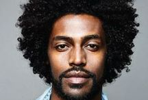 Men Afro Hair / Man with natural afro textured hair