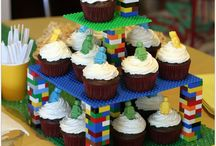 7th Birthday Party / Lego and Minecraft cakes ONLY (yay!) at Chuck E Cheese / by Jackie McL