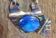 Dichrocic Glass & Powder Coating - Pendants / by Eureka Janet ~ Jewelry featuring Powder Coating
