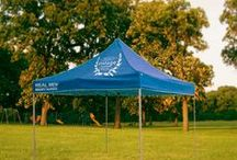 Party tent, event tent (custom) / It's easy to let people know what is happening here, just print a event or party logo on the tent!