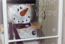 Karácsonyi ablakdekorációk