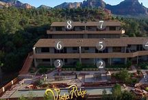 The Suites at Vista Ridge Sedona /  Vista Ridge Sedona- Luxury Vacation Rental Condos beautifully situated in Sedona. We back up to Coconino Forest wilderness, so you'll our surroundings private and quiet and, yet, convenient the best dining and shopping in Sedona. 1 and 2 bedrooms units available. All Master Suites have king beds, private bath, and TV, 2 bathrooms and either a queen or 2 twins in the second guest bedroom, full furnished gourmet kitchen, washer and dryer in each unit. Plus all the quality and touches you'd expect in a luxury vacation rental. www.vistaridgesedona.com/