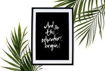 Inspirational Prints / Typography Prints, Motivational Print, Inspirational Print, Typography Poster, Motivational Poster, Inspirational Poster, Wall Decor, Home Decor, Travel Poster / by For the Love of Stationery // Shop Photo Wedding Invitations